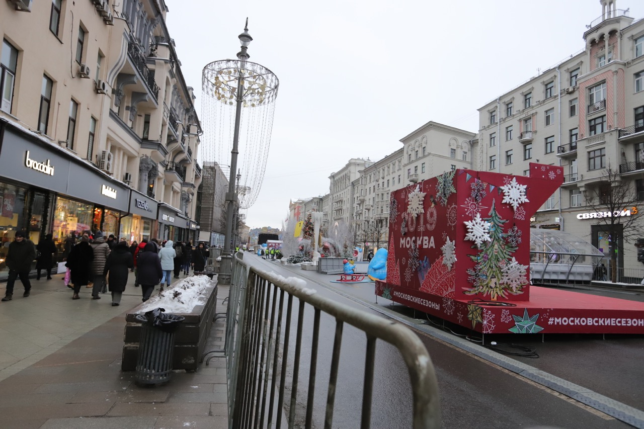 Тверская улица станет пешеходной 31 декабря с 14:00 — Собянин