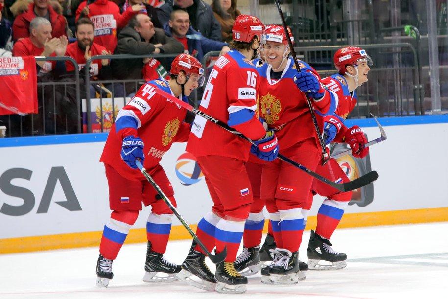Cборная России разгромила сборную Чехии со счетом 7:2