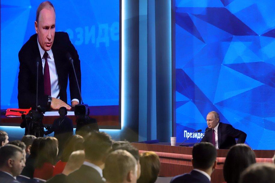 Владимир Путин не ответил на вопрос о налоге на самозянятых