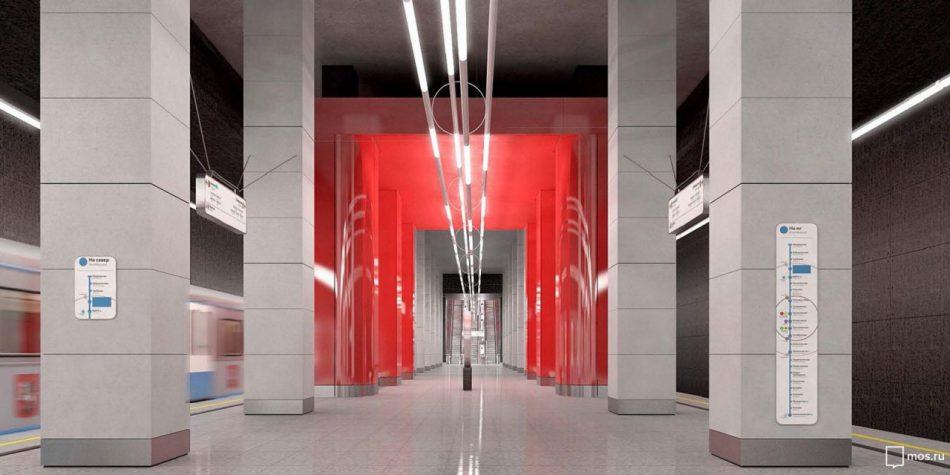 Вестибюль станции «Мневники» оформят в виде атриума