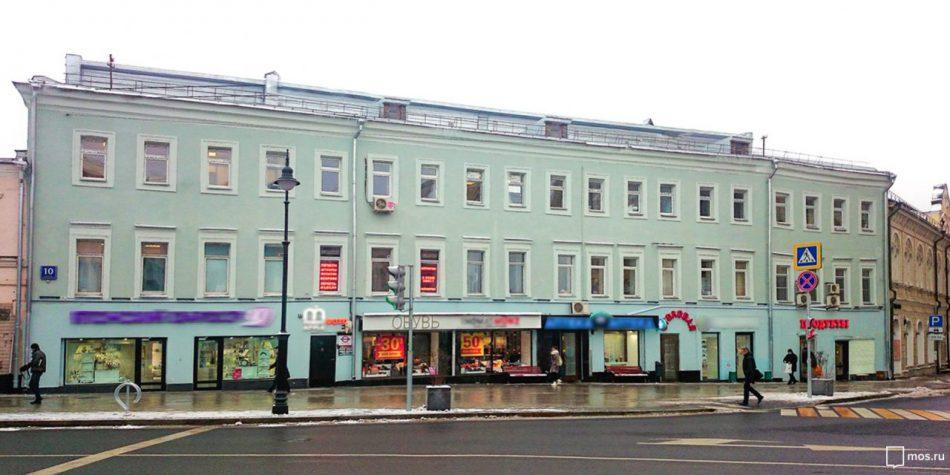 Доходный дом на Мясницкой признали объектом культурного наследия
