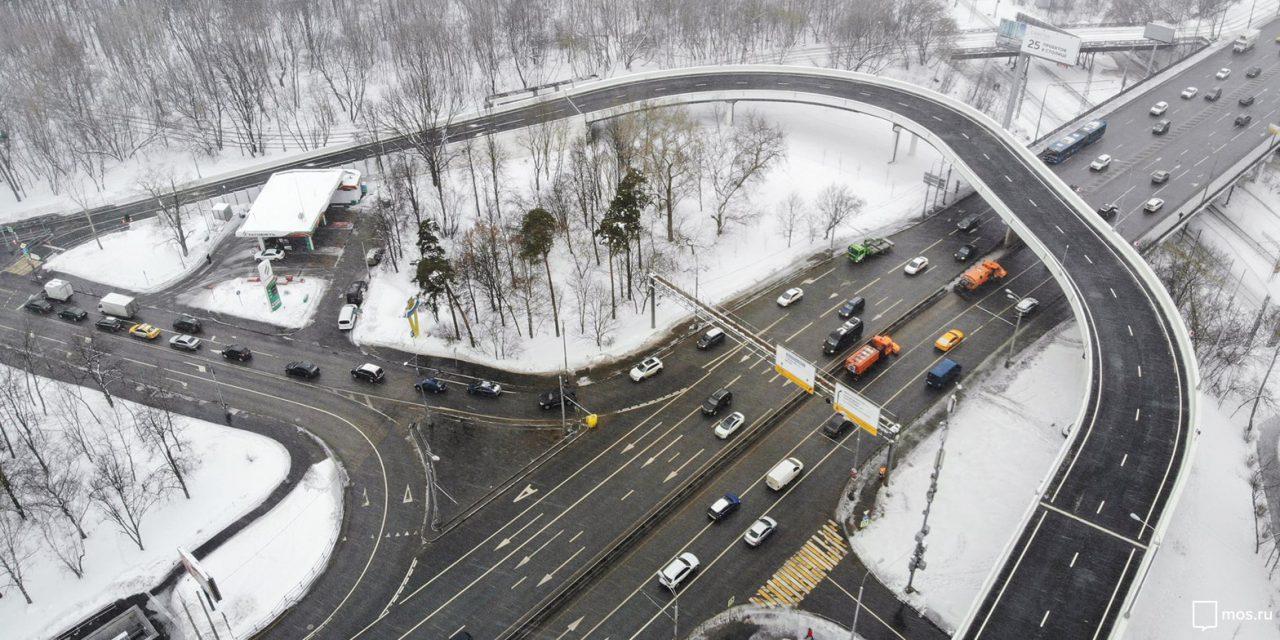 Новая разворотная эстакада на Волоколамском шоссе существенно сэкономит время автомобилистам