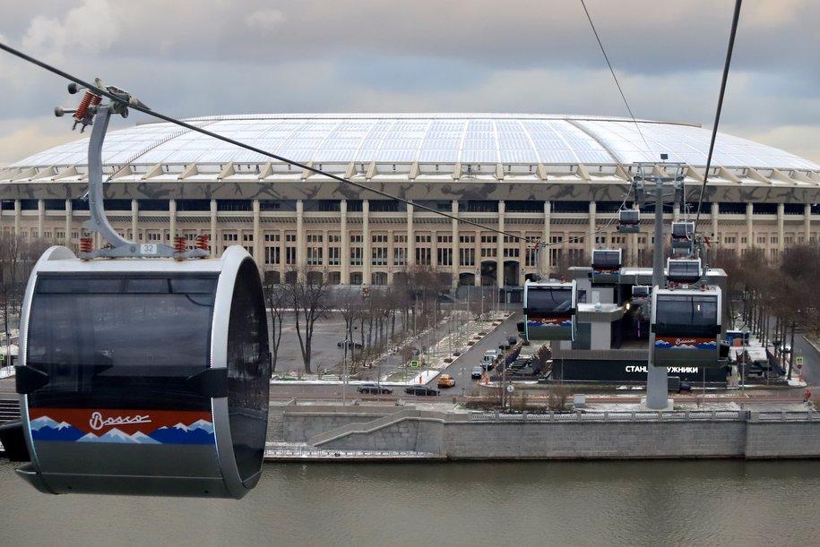 Режим работы Московской канатной дороги изменится 25-27 января
