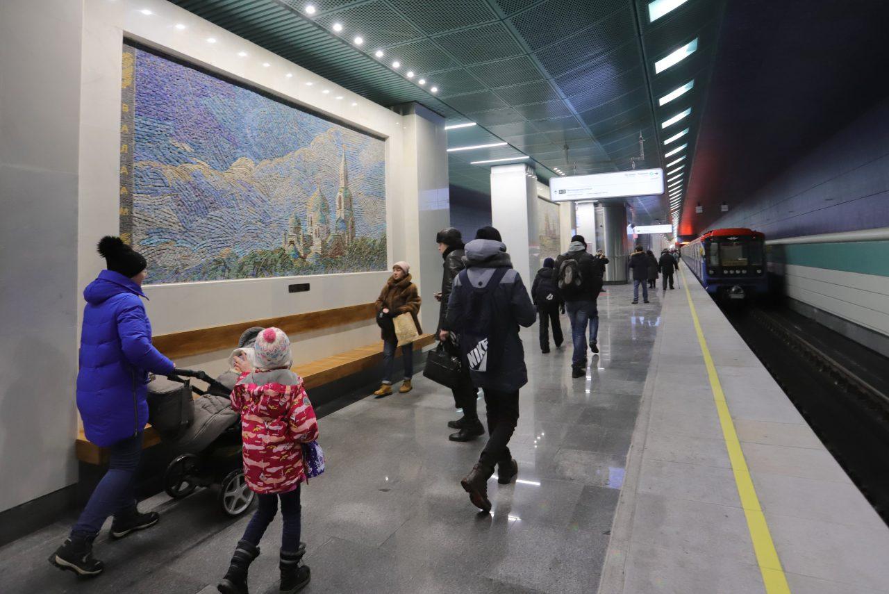 Более 500 тыс. человек воспользовались станцией метро «Беломорская» с момента ее открытия