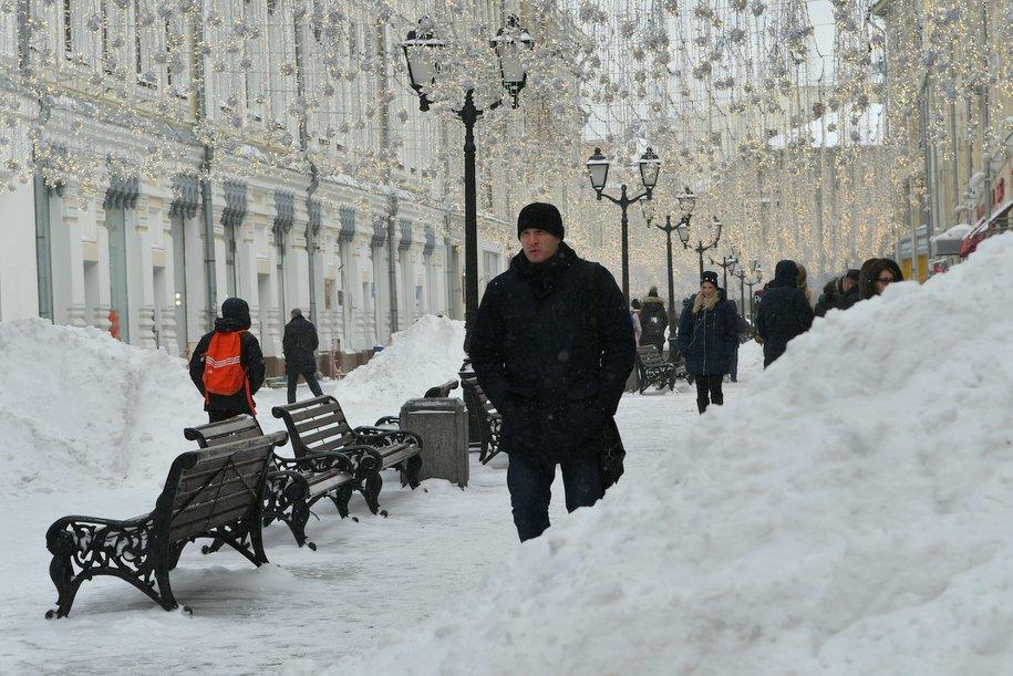 Самый сильный снегопад нынешней зимы ожидает москвичей в выходные