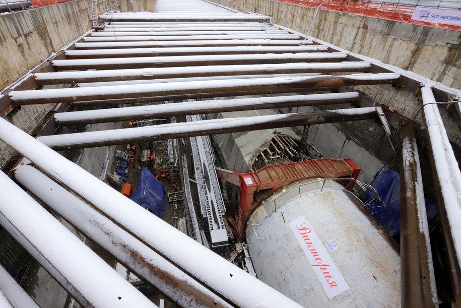 Проходка тоннелей от «Аминьевки» до «Мичуринского проспекта» завершена на 50 процентов