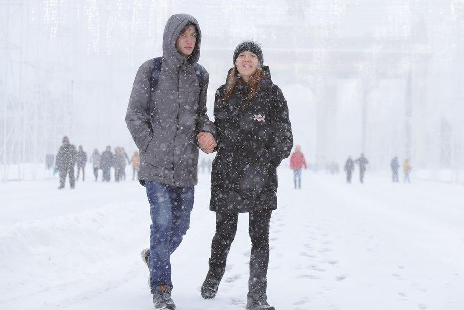 МЧС предупреждает жителей Москвы о снегопаде и сильном ветре