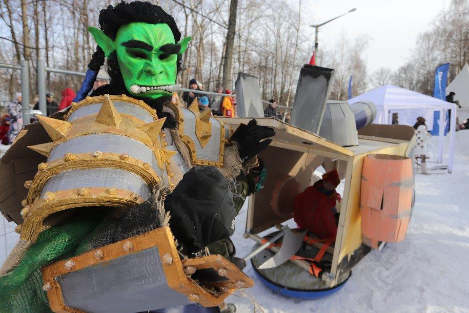 В Сокольниках прошел ежегодный фестиваль «Battle сани»