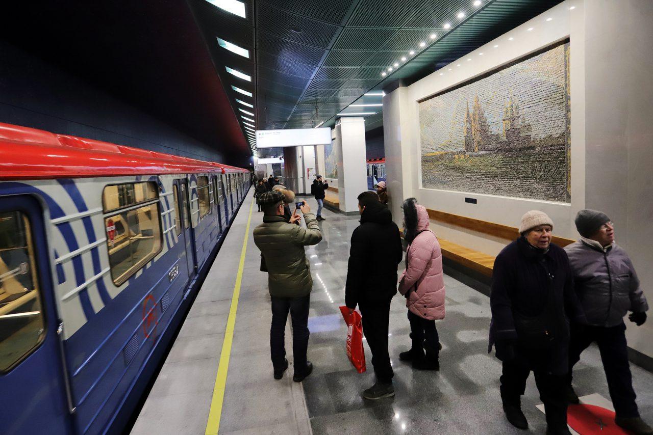 Cтанцией метро «Беломорская» пользуются около 32 тысяч пассажиров каждый день