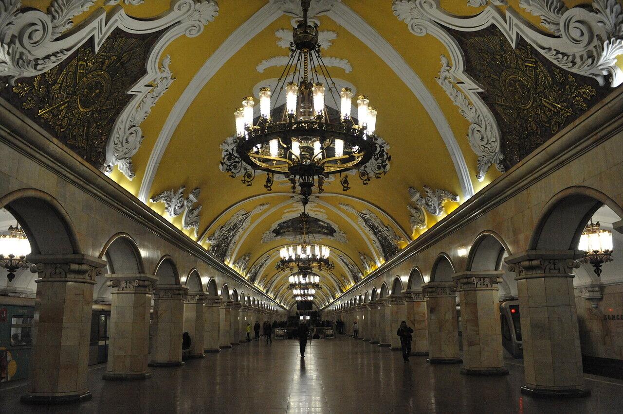 Мэр Москвы назвал архитектурными шедеврами станции Кольцевой линии метро