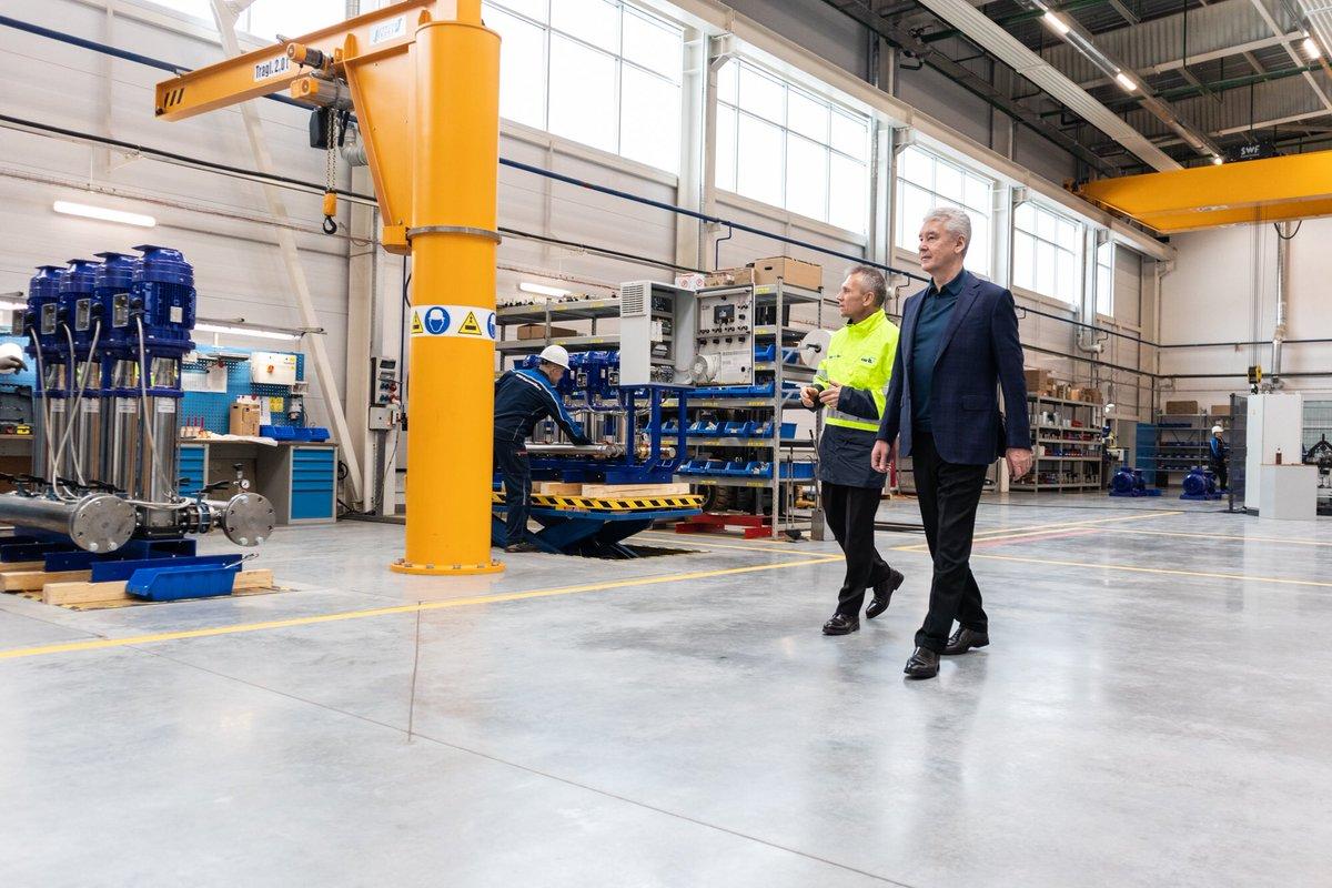 Сергей Собянин открыл первый в России завод немецкого концерна «КСБ»