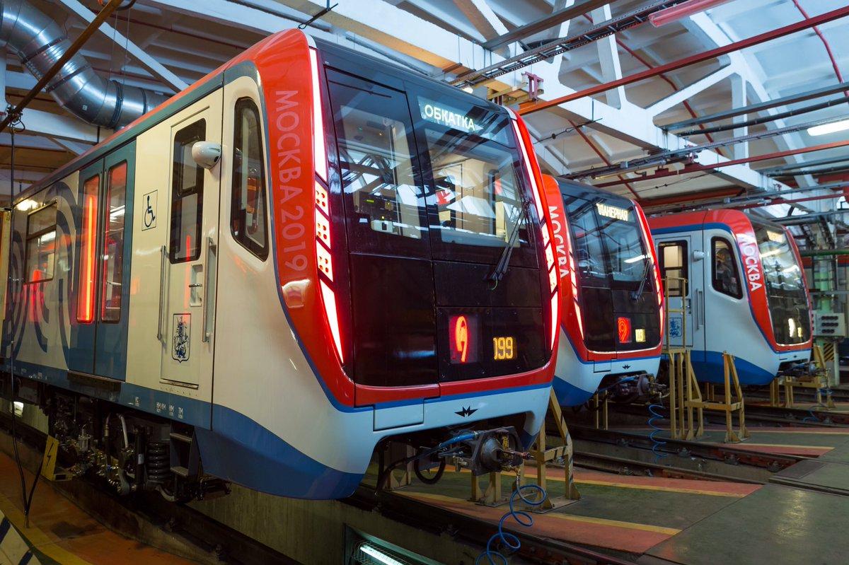 Два новых поезда «Москва-2019» вышли на Сокольническую линию метро