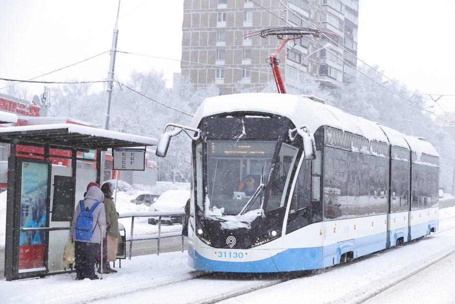 На Дубининской улице задерживаются трамваи