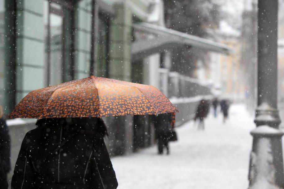 Cегодня в столице ожидается облачная погода, небольшие осадки и до пяти градусов тепла