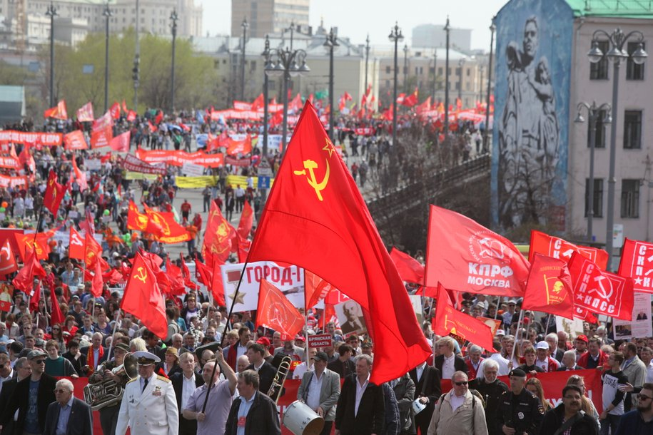 На проспекте Сахарова проходит акция протеста в защиту социальных прав