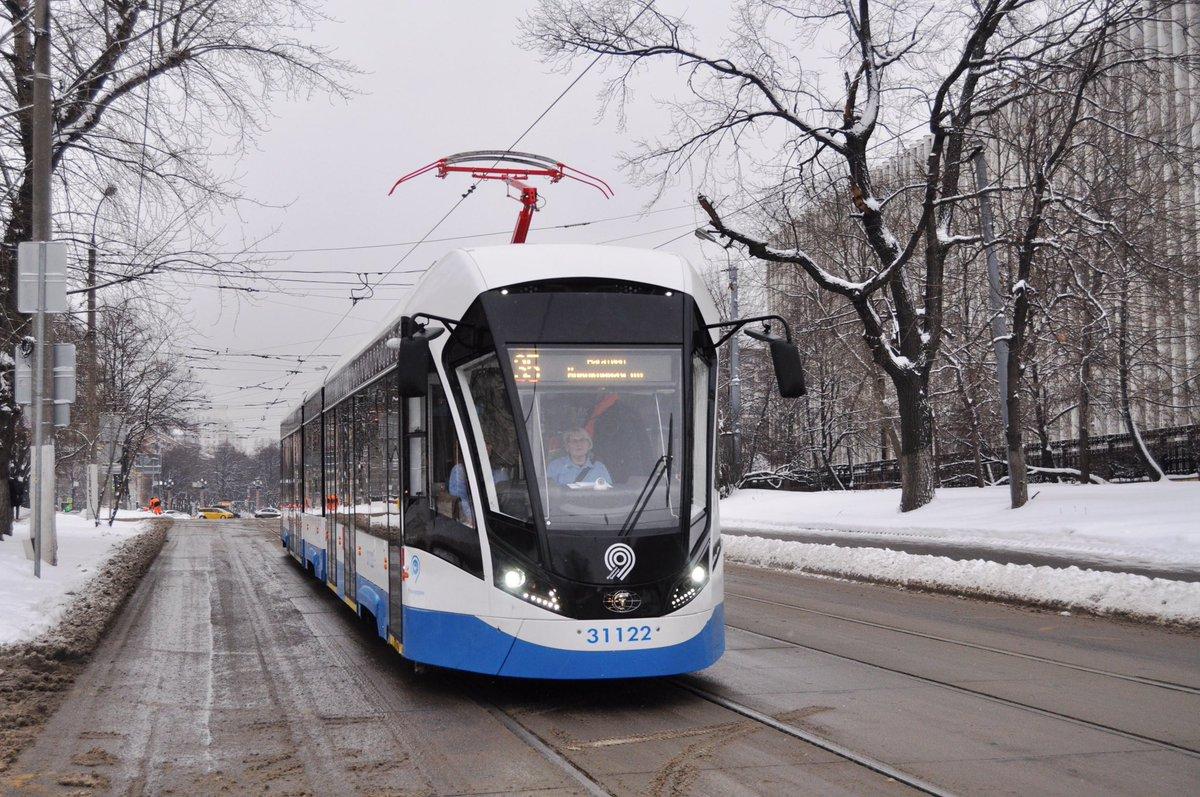 100 новых трамвайных вагонов «Витязь» получит Мосгортранс