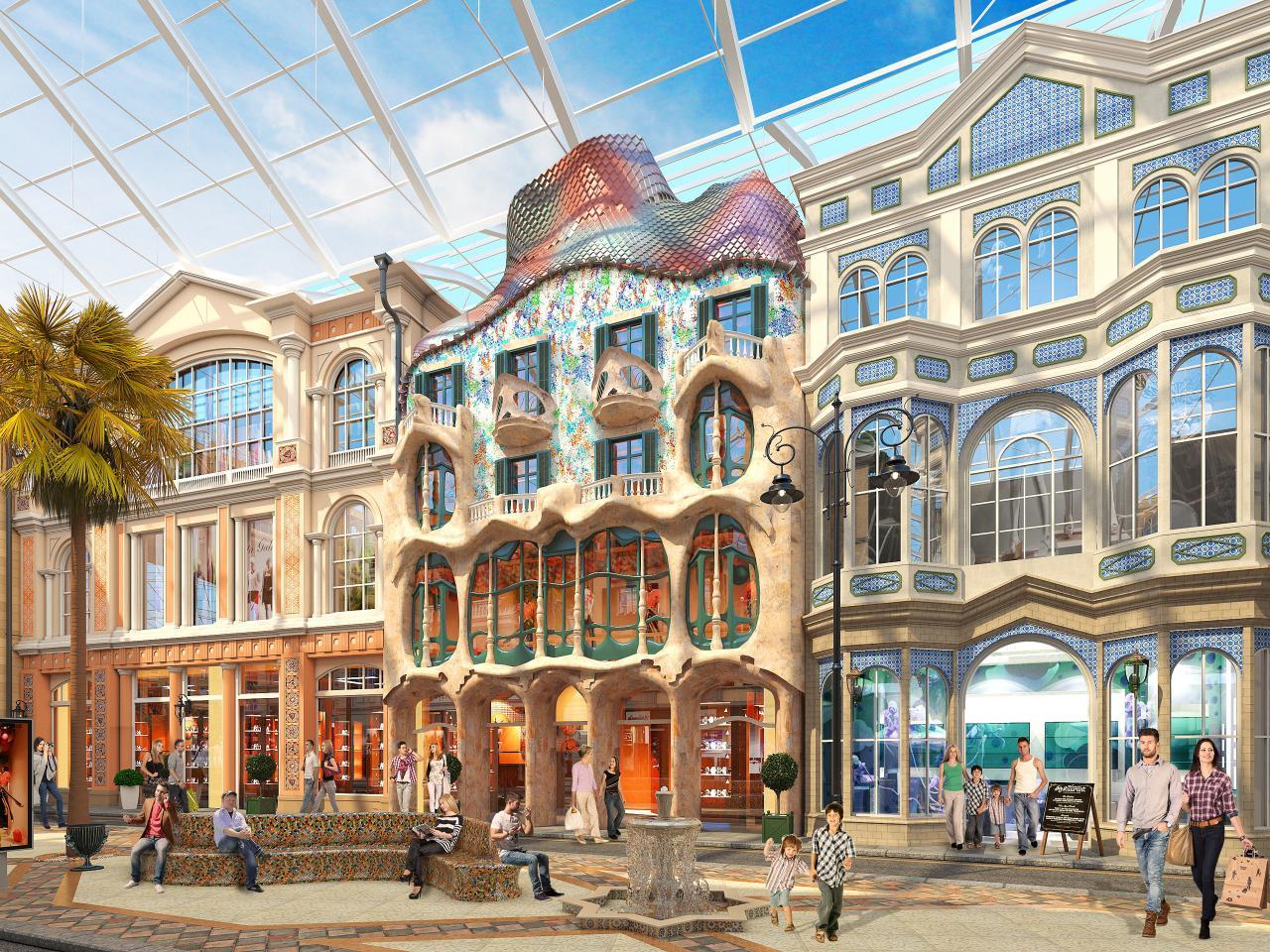 В парке «Остров Мечты» создадут более 120 уникальных фасадов зданий