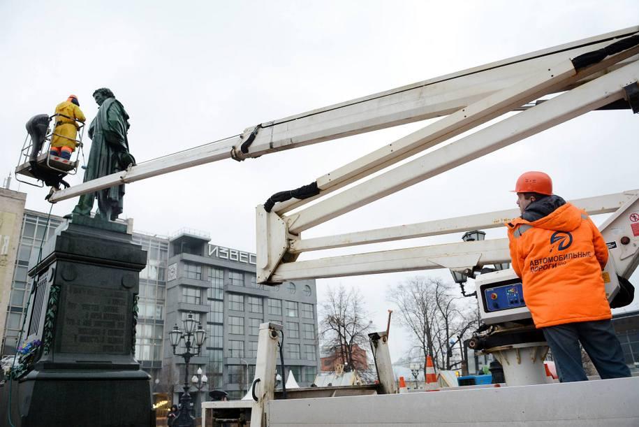 Памятник Пушкину планируют помыть 16 апреля
