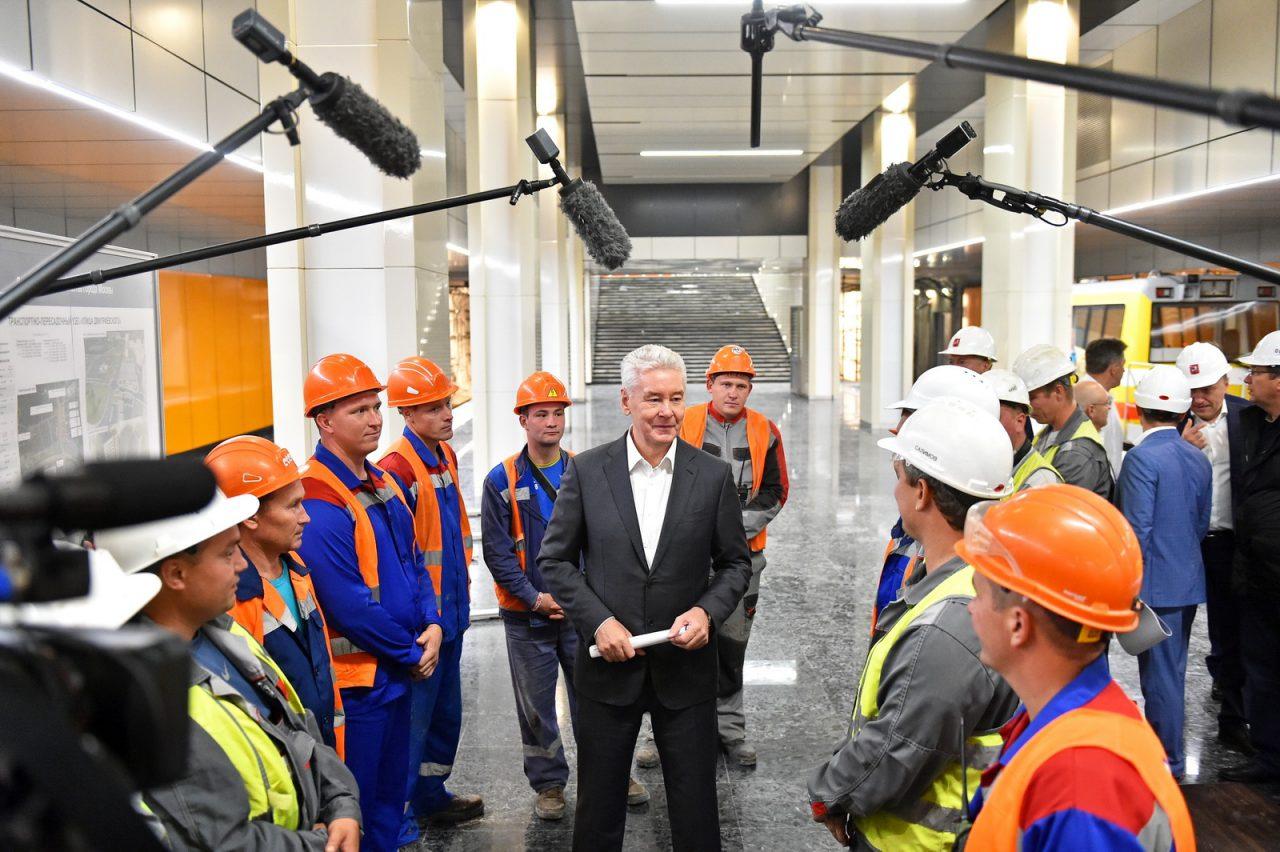 Мэр Москвы рассказал о ходе строительства Некрасовской линии метро