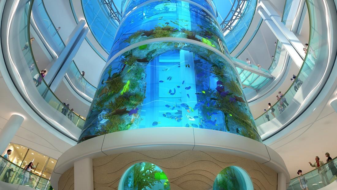 Прорыв аквариума в ТРЦ устранен