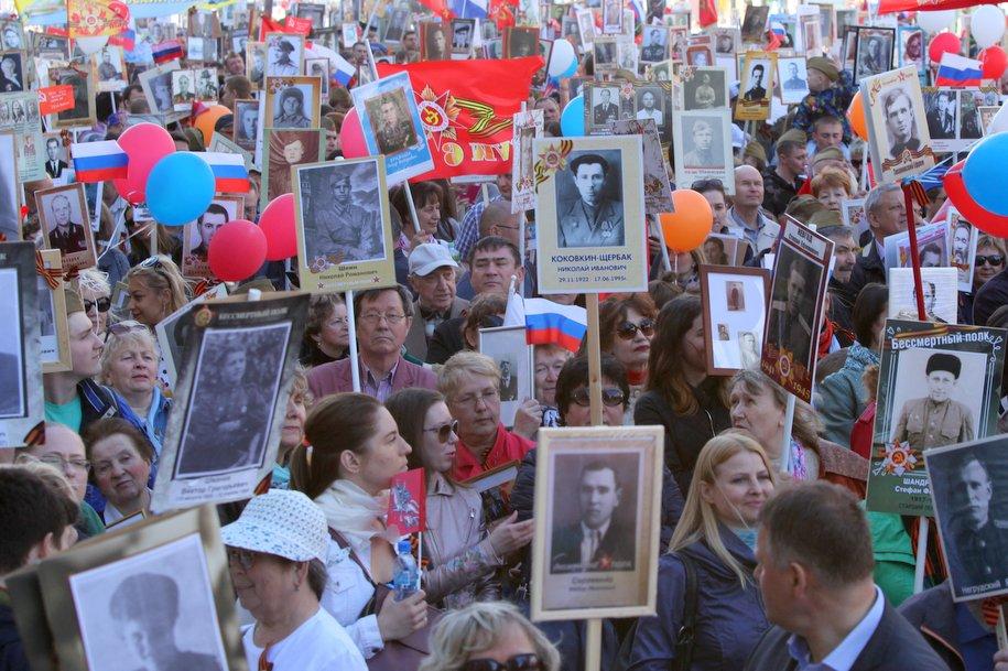 Свыше 10 млн человек по всей стране приняли участие в шествии «Бессмертного полка»