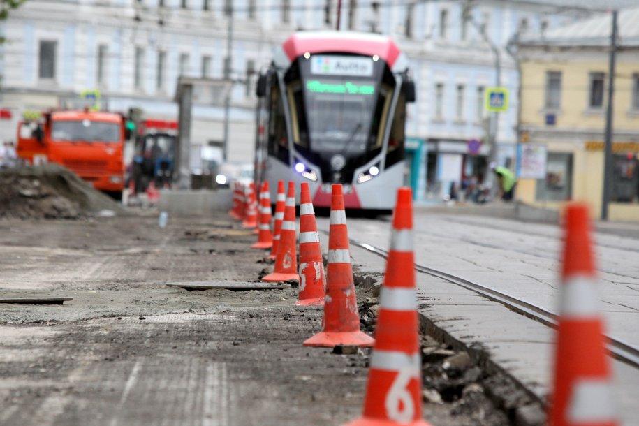 В Гагаринском районе обновят трамвайные пути