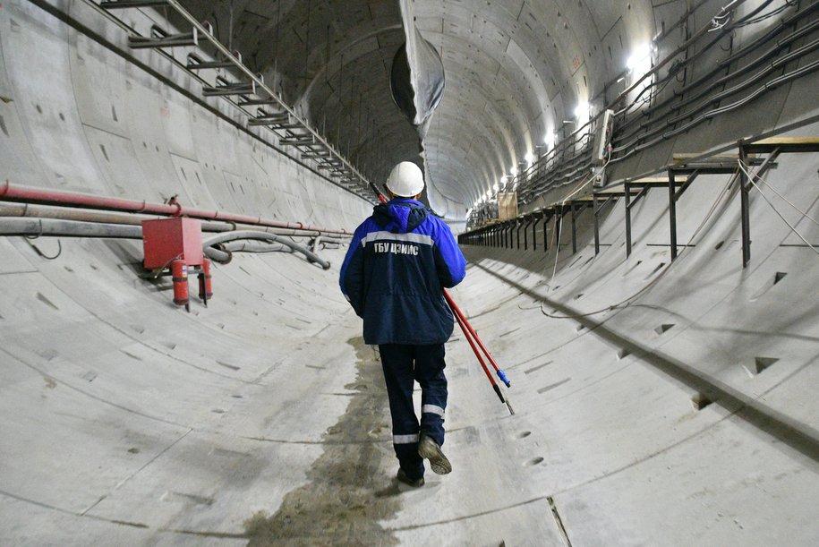Начался основной этап строительства станции БКЛ «Мневники»