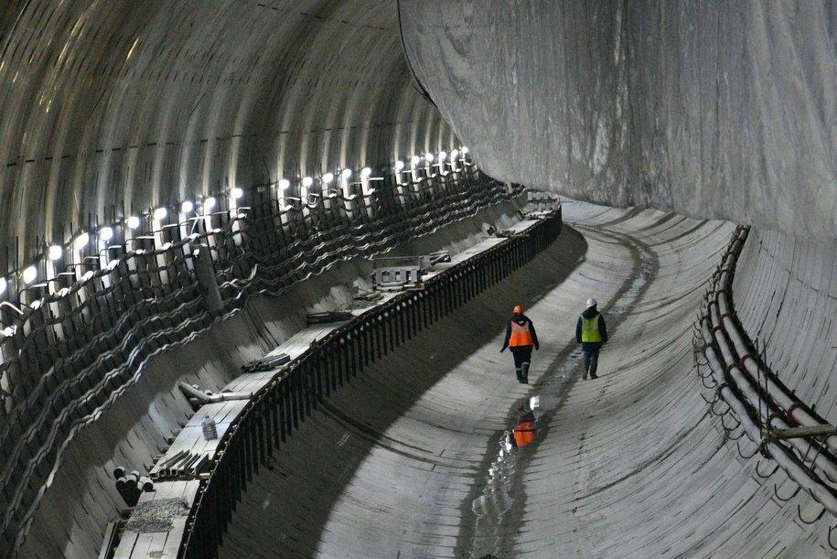 Тоннель метро построен под Каналом имени Москвы