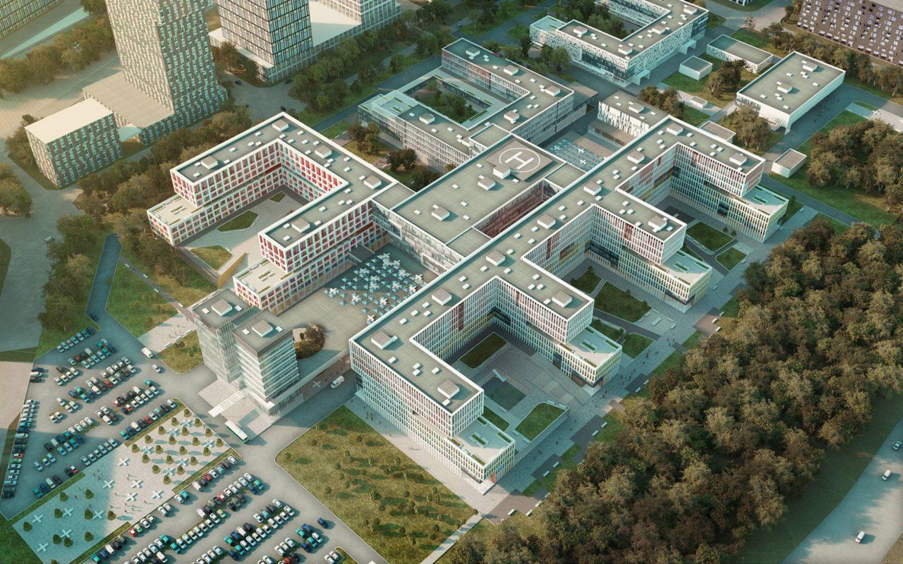 Крупнейший в России больничный комплекс откроют в ТиНАО в этом году