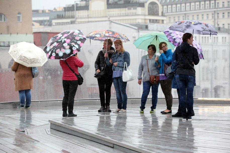 Дождливая и пасмурная погода ожидает сегодня москвичей
