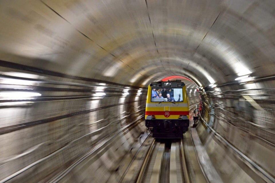 Парад поездов прошел в метро