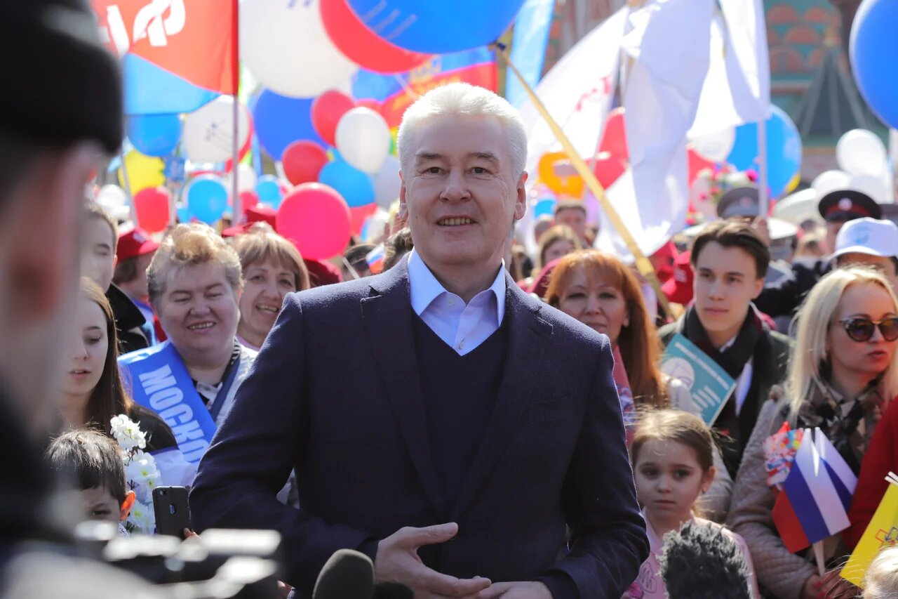 Сергей Собянин поздравил москвичей с праздником Первомая