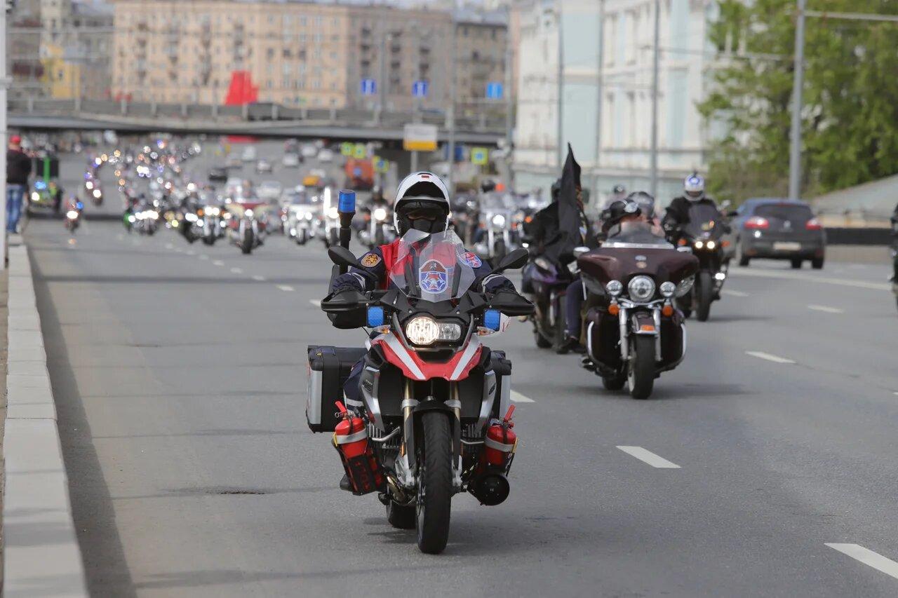 Около 10 тыс. человек приняли участие в весеннем мотопараде в столице