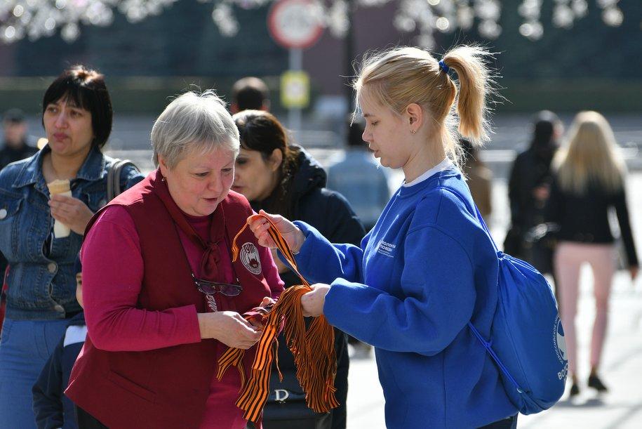 В Москве проведут рейды против незаконной торговли георгиевскими ленточками
