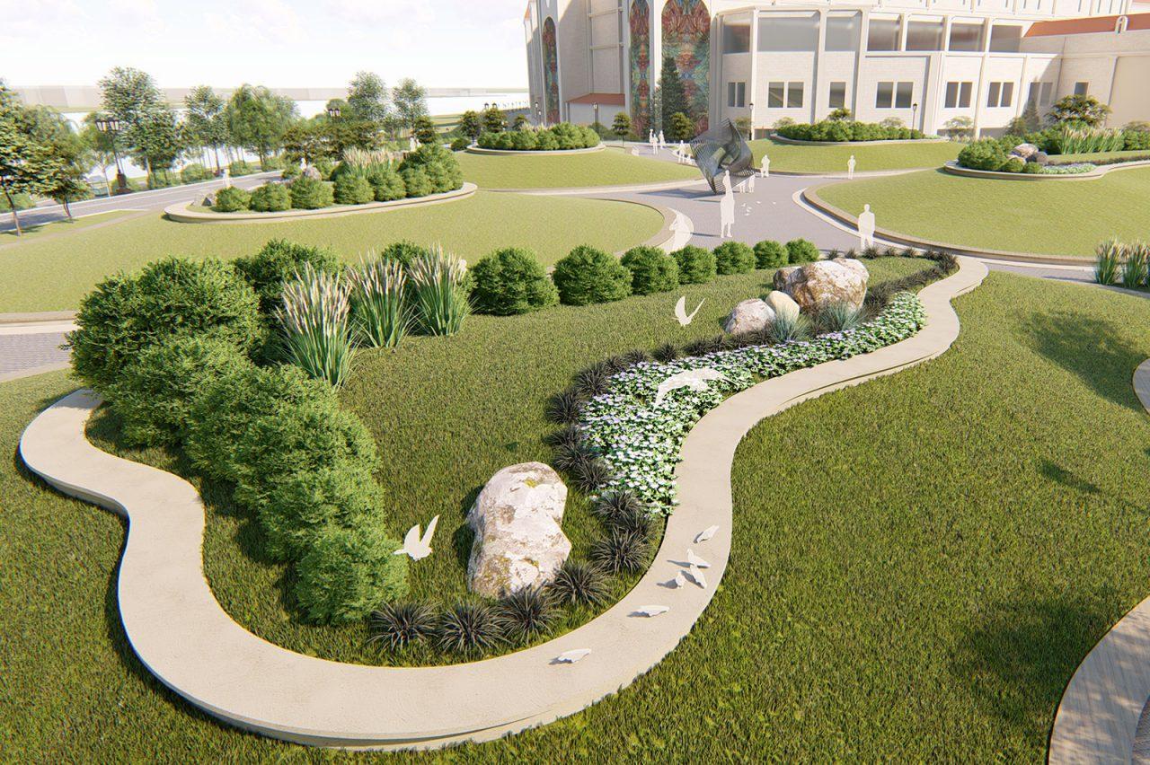В парке «Остров мечты» высаживают 500 крупных деревьев