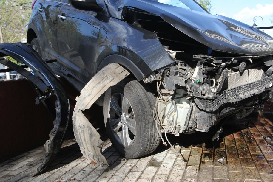 На Кутузовском проспекте произошло ДТП с автобусом