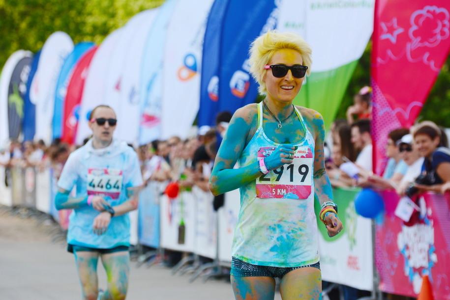 В «Красочном забеге» приняли участие около 5 тысяч человек