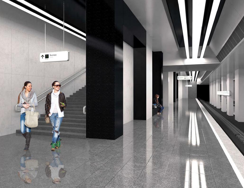 Станция «Печатники» БКЛ метро будет оформлена в стиле необрутализм