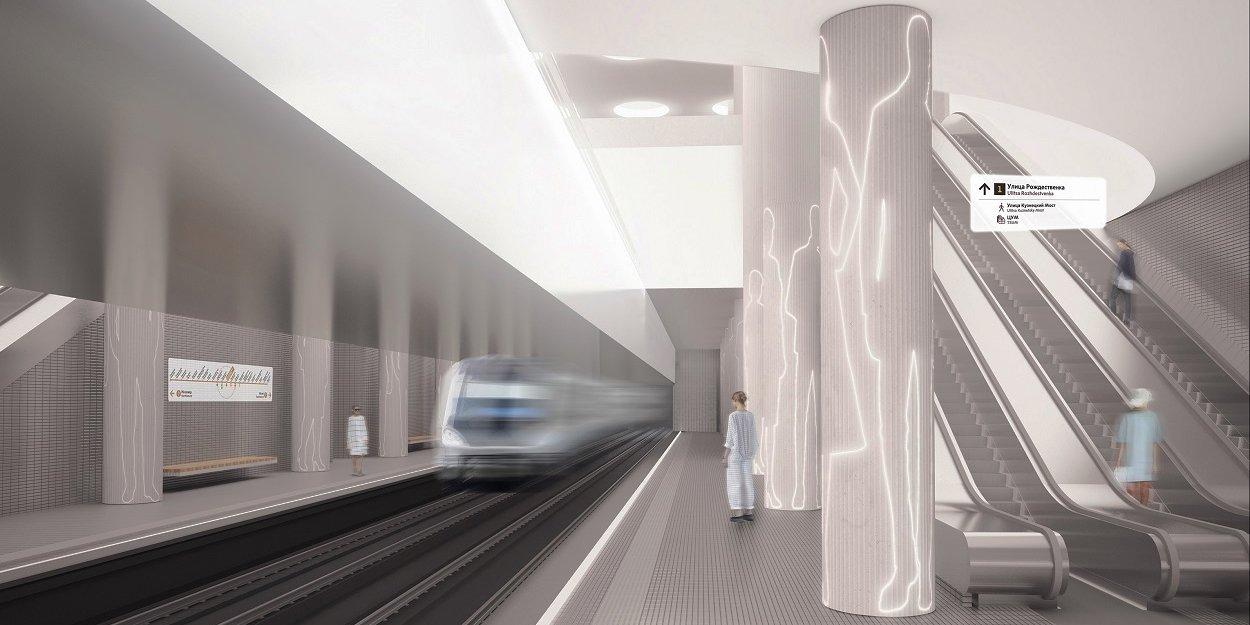 Станцию «Мневники» БКЛ украсят абстрактные фигуры людей