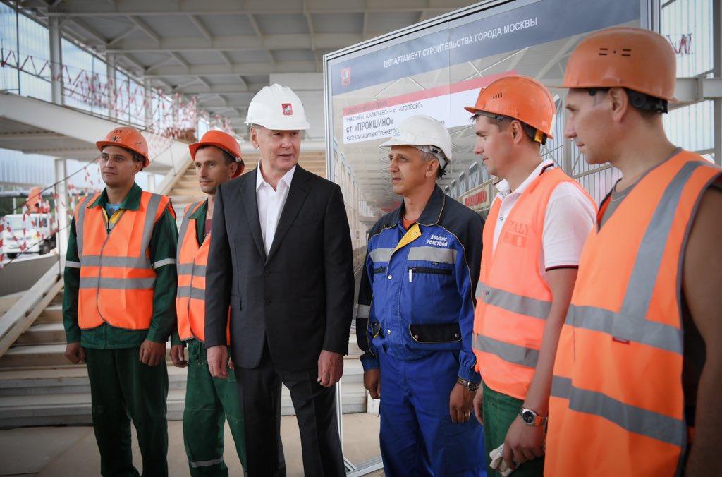 Сергей Собянин открыл четыре новые станции Сокольнической линии метро