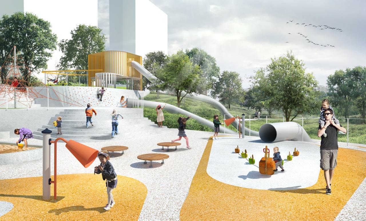 Необычные детские площадки появятся на набережной в Капотне
