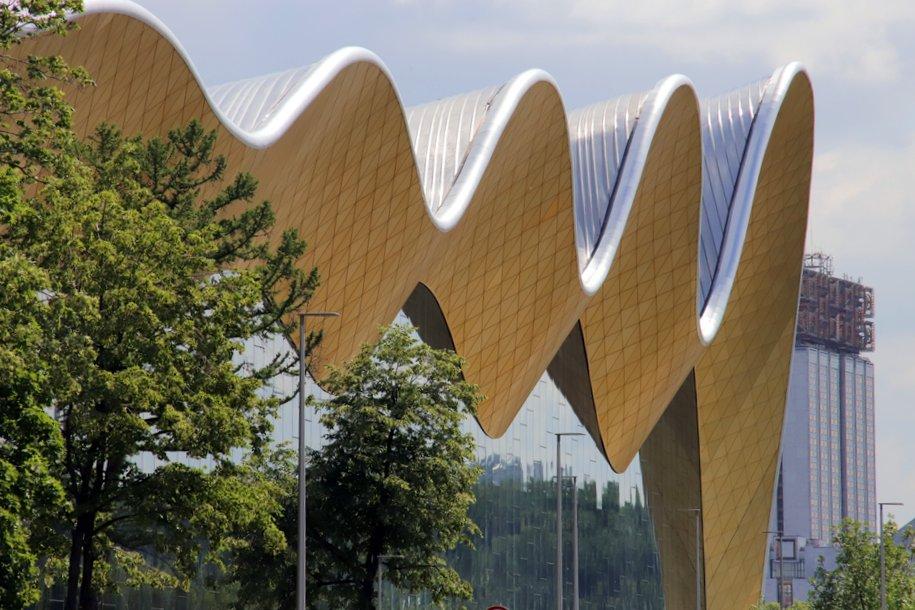 Уникальную крышу Дворца гимнастики испытали в аэротрубе — Хуснуллин