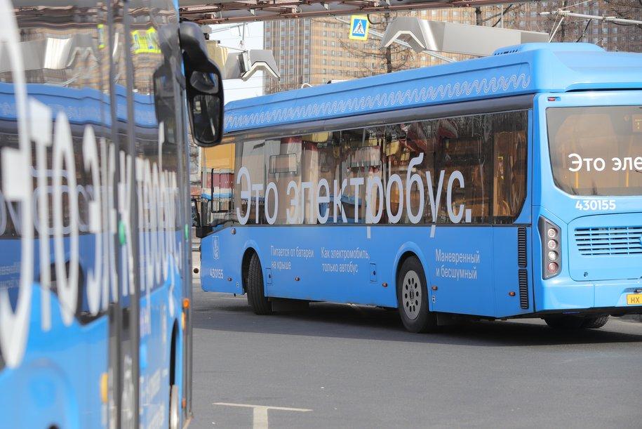 Электробусы начали курсировать на двух новых маршрутах в центре Москвы