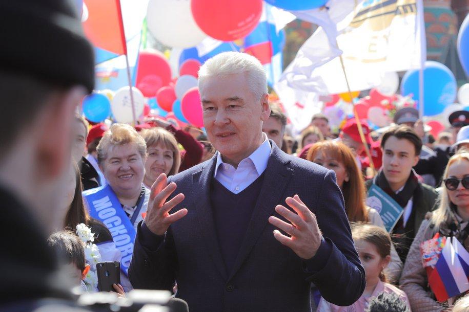 Сергей Собянин поздравил москвичей с Днём России
