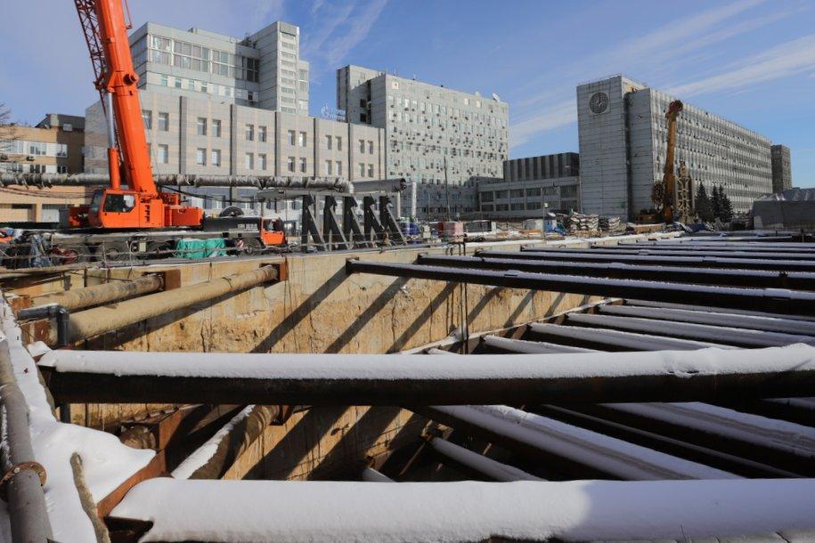Началось строительство выхода со станции «Юго-Восточная» к Ташкентской улице