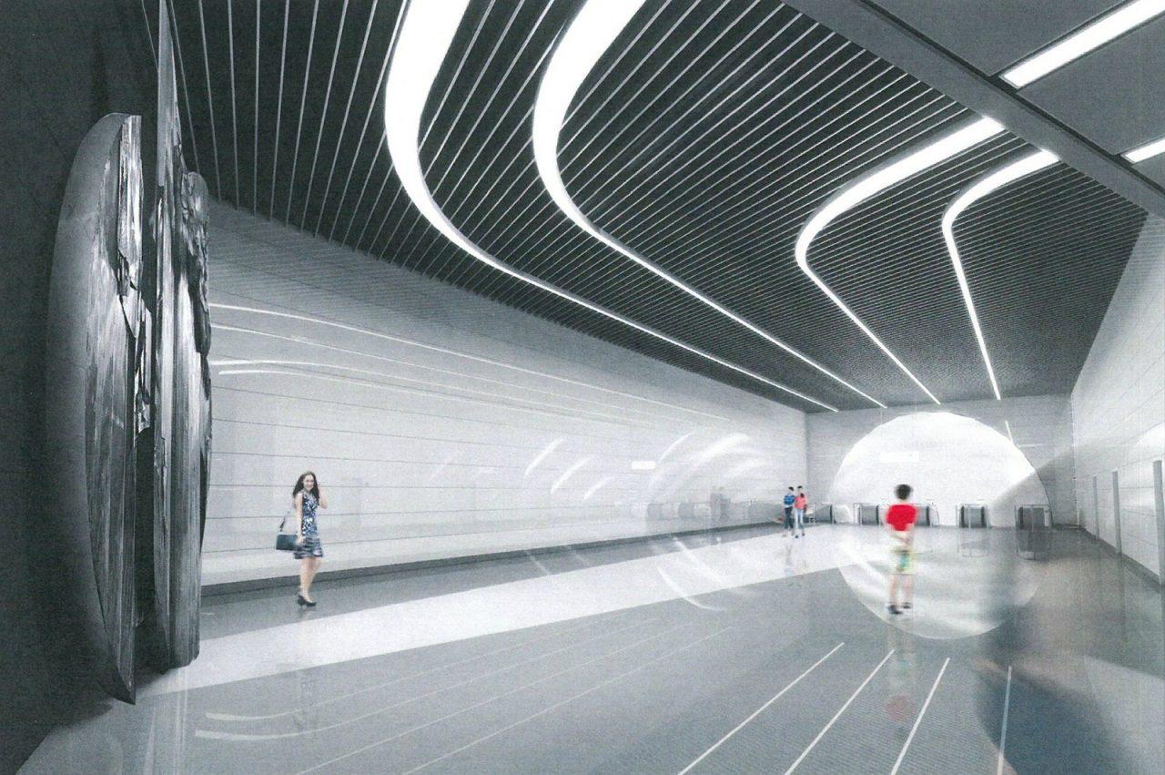 Отделка платформы началась на станции «Авиамоторная» БКЛ метро