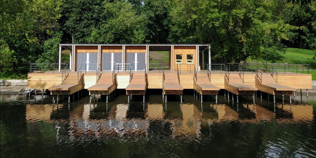 На территории парка усадьбы Люблино закончили строительство новой лодочной станции