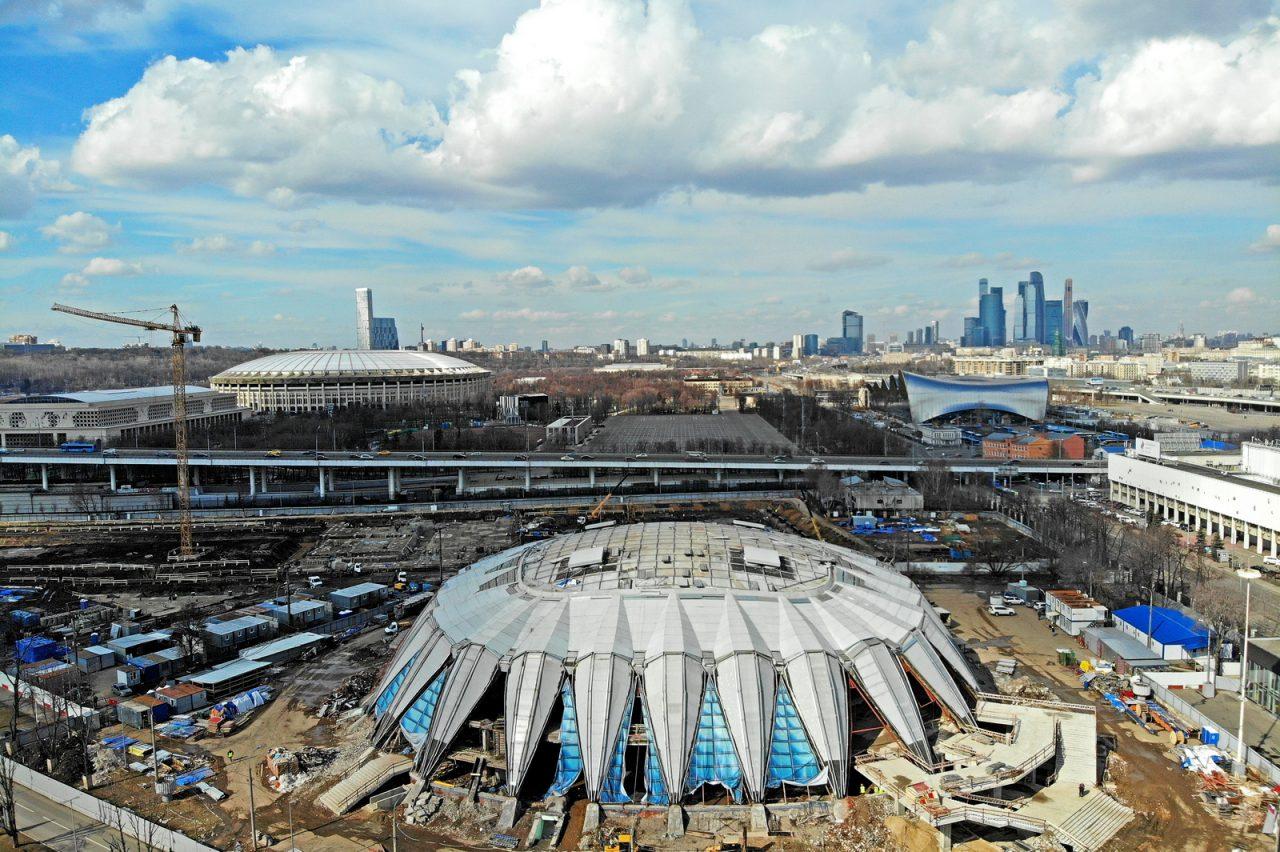 Внутренние конструкции спортзала «Дружба» в Лужниках готовы