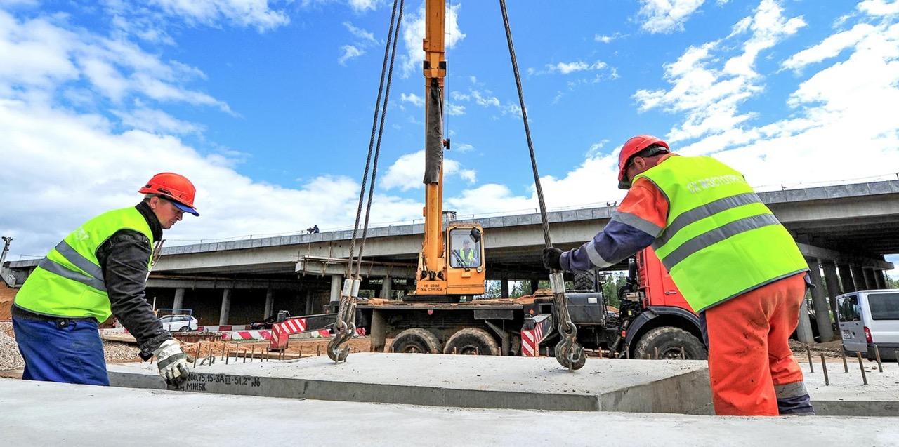 Строительство пяти эстакад ведется в составе развязки на пересечении Юго-Восточной хорды и Волгоградского проспекта