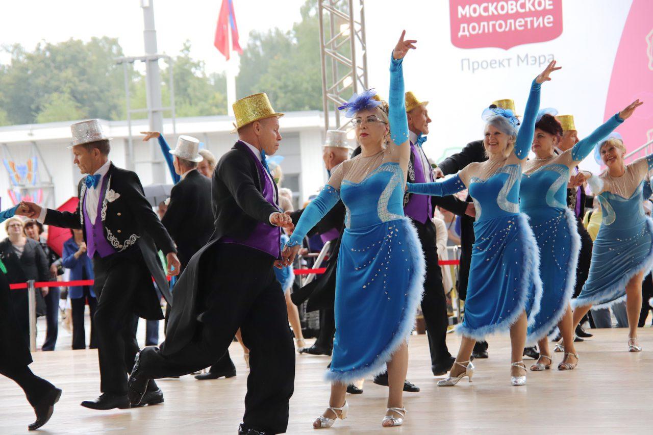 В парке «Сокольники» состоялся танцевальный марафон «Московского долголетия»